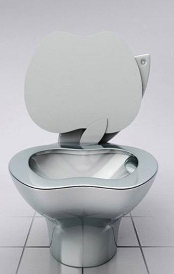 苹果又添新成员创意马桶伤不起